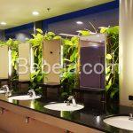 Dekorasi Hijau Toilet